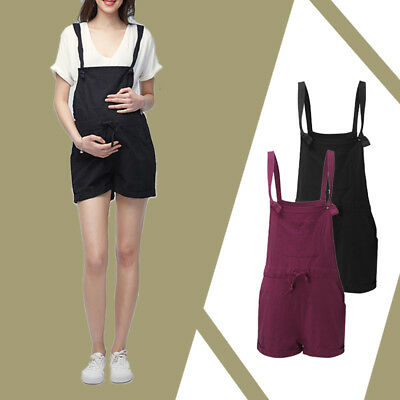 Maternity Women Romper Sleeveless Loose Casual Pregnancy Junpsuits Playsuits