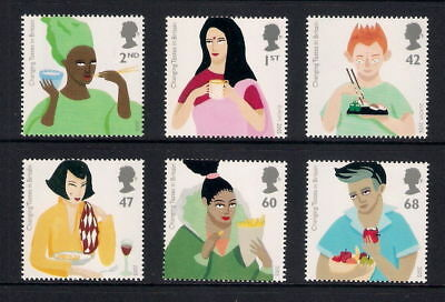 Mint 2005 Gb Europa Changing Tastes In Britain Gastronomy Complete Stamp Set Muh