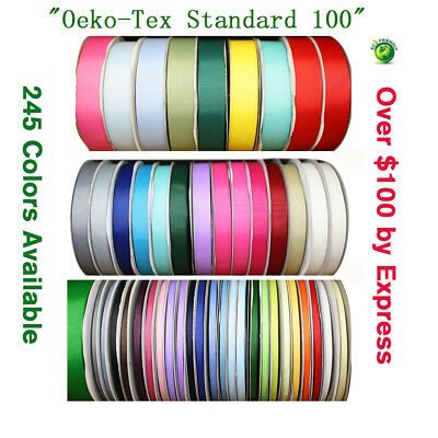 "Solid Color Grosgrain Ribbon-100 Yards 28 Colors 1/4"" 3/8"" 5/8"" 1"" 1.5"" Inch"