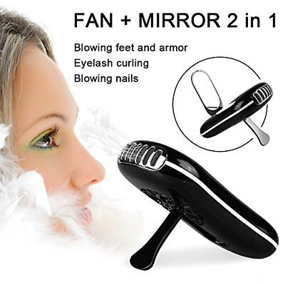 Eyelashes Dryer Fan Mini Portable USB Rechargeable Electric Bladeless Handheld