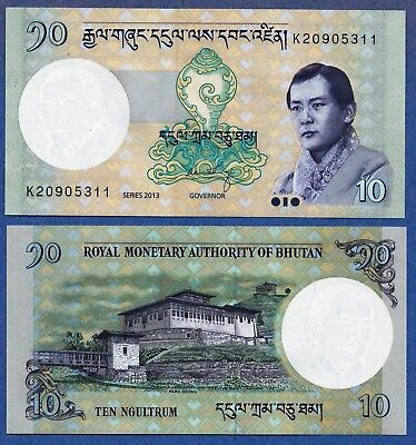 10 PCS Bhutan 2013  UNC 10 Ngultrum Banknotes Paper Money Bill P-29b