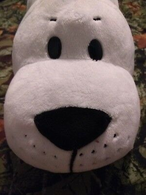 "FlipaZoo 16"" Plush stuffed animal 2 In 1 Pillow White Seal /Penguin toy"