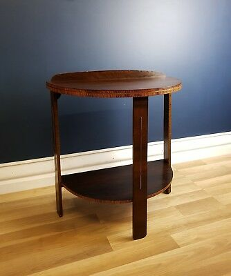 Art Deco Half Round Hall or Side Table, Restored 1940. Ready to Use, Vintage