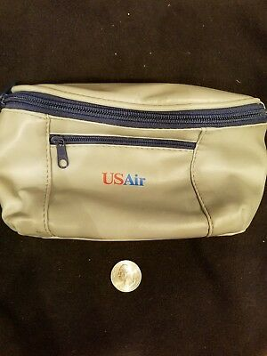 Vintage USAir First Business Class Toiletry Amenities Kit Fanny Pack US Air
