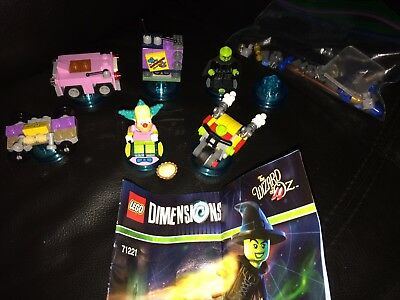 Lego Dimensions Lot of 7 Simpsons Krusty Fun Level Wicked Witch Xbox Playstation