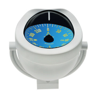 Compass Boat Marine Flush Mount White Body 85mm Card Sail Power Compass NEW