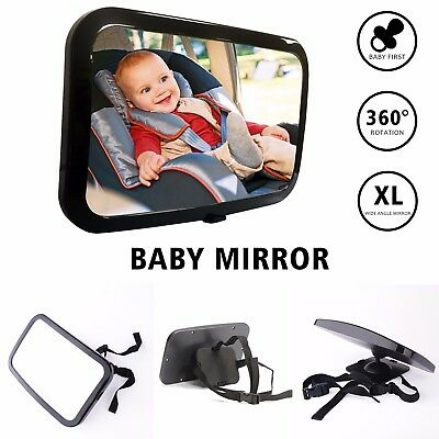 Baby Child Car Safety Back Seat Mirror Rear View Easily Adjustable Large Wide