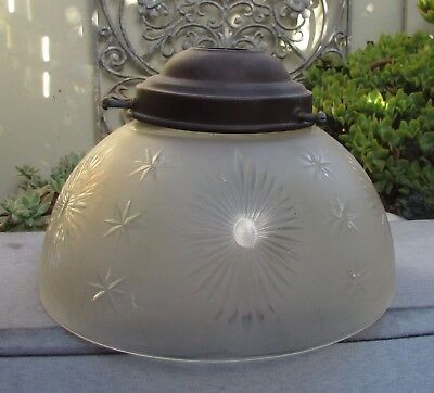 Stunning Vintage Original Cut Glass Light Shade Bakelite Gallery
