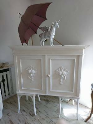 """UNIKAT Kommode """" Stacy"""" in Shabby Chic weiss"""