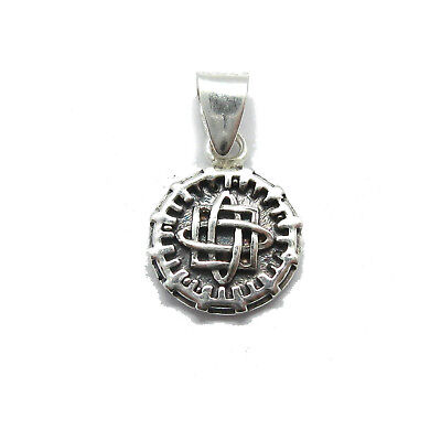 Small genuine sterling silver Celtic pendant charm solid hallmarked 925