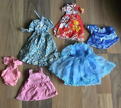 Vintage Hand Made Doll Clothes & Baby Born Dress Lot For 15 To 21 Inch Dolls