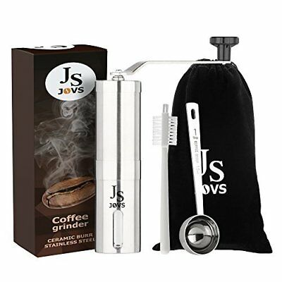 Jovs Burr Conical Stainless Steel Grinder for Manual Use with Brush, Coffee
