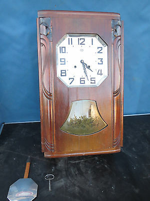 Antique pendulum clock odo chime westminster Art Deco