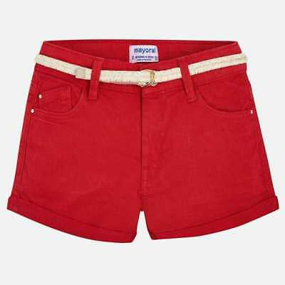 mayoral Pantaloncino Casual Bambine Rosso 275-016-1