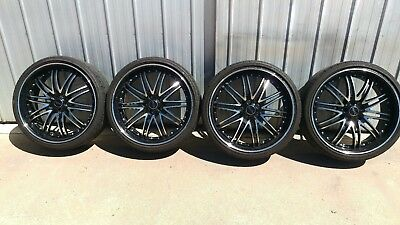 """Holden Commodore VE to VF 22x9"""" Savini Rims With Tyre's"""