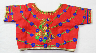 Red Color Readymade Saree Blouse, readymade blouse, Choli,  crop top