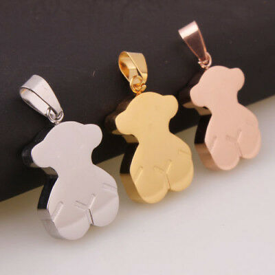 High Quality Stainless steel Vacuum plating solid Fashion Jewelry Bear Pendant