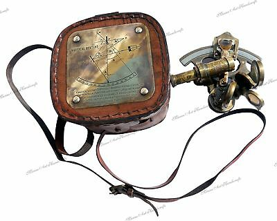 Antique Pocket Sextant With Leather Box.3130