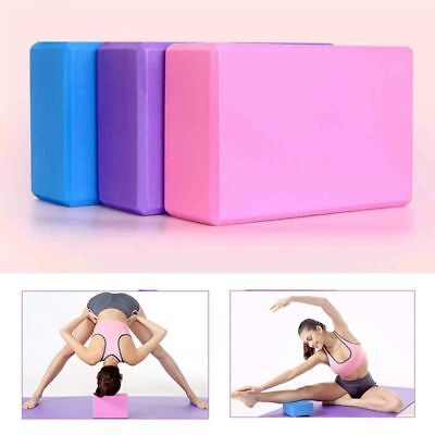 2x EVA Yoga Block Brick Pilates Foaming Foam Home Stretch Exercise Fitness Gym