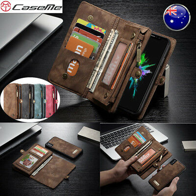 For iPhone 11 Pro Max XS XR X 6 7 8 Plus Leather Zipper Flip Wallet Case Cover