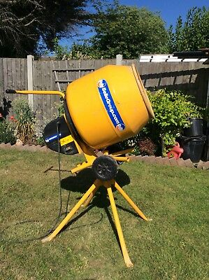 Belle Mini mix 130 Tip Up Concrete Mixer+ Stand 230v Electric
