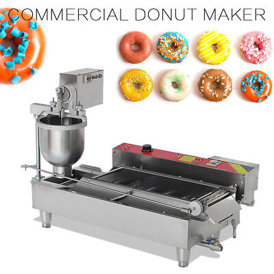 【HOT】Commercial Electric Auto Doughnut Making Machine Donut Baking Maker+3 Molds