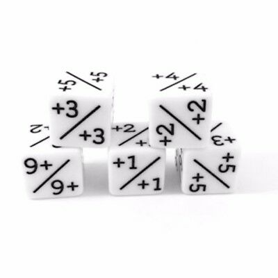 5Pcs Digital Counters Dice -1/-1 For DND MTG Table Party Game Gift Set