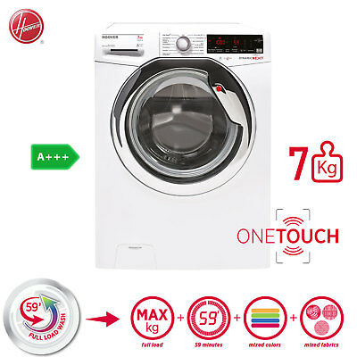 Hoover Waschmaschine 7kg Frontlader A+++ Dampf Funktion Touch Display Aquastop