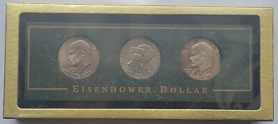 1943 Three United States Of America Steel Pennies With Presentation Box