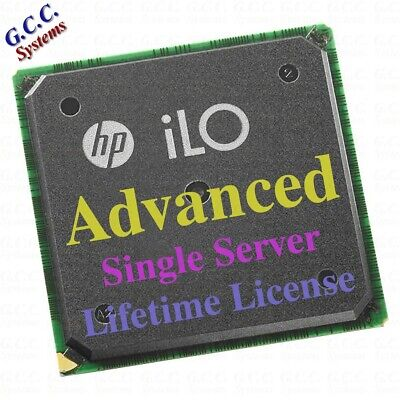 Genuine HP iLO Lights Out 2 3 4 5 Single Server Advanced License Key - EMAILED