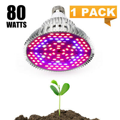 80W LED Grow Pflanzenlampe 80 Watt 3200K Pflanzen Lampe E27 Full Spectrum Light