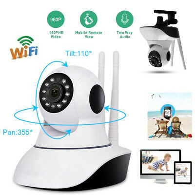 HD 1080P Wireless WIFI Home Security IP Camera 2Ways Audio CCTV Cam Baby Monitor