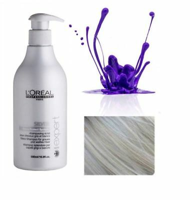 Loreal  Professional Silver Purple Toning Shampoo Serie Expert 500ml With Pump