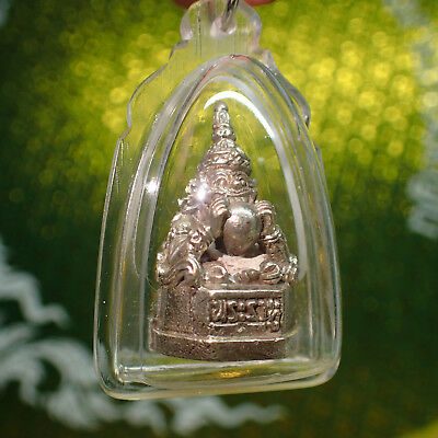 ''PHRA RAHU'' Moon Eater Buddha Amulet get Wealth Brass Statue Thai Magic Lucky
