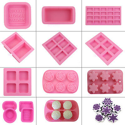 Cute 55 Mini Heart Shape Silicone Ice Cube Fondant Chocolate Tray Mold Mould AU
