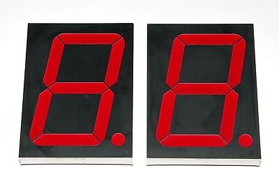 "LSD40165-11 Ligitek 4""=10cm LARGE 7-segment LED Display RED CA Common Anode, 2pc"