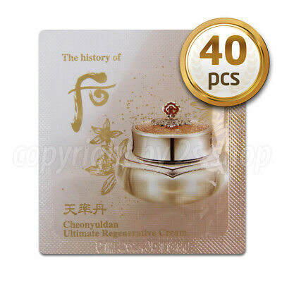 [The History of Whoo] Cheonyuldan Ultimate Regenerating Cream 1ml x 40pcs