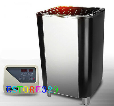 STAINLESS STEEL SAUNA HEATER STOVE 8-18KW @ Outer Control @Home & Commercial Use