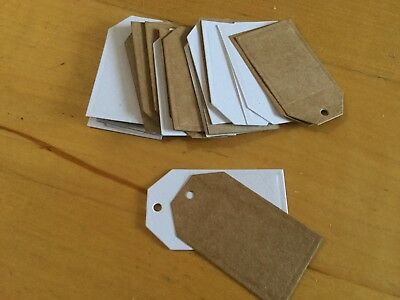 Luggage labels craft wedding card  brown/white mix x 50