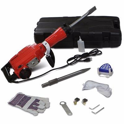 HD 2200 Watt Electric Demolition Hammer Concrete Breaker Punch Chisel Bit MS