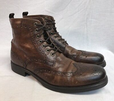 2ed2b26f141 TO BOOT NEW York Lincoln Cap Toe Black Leather Lace Up Boots Size 10 ...