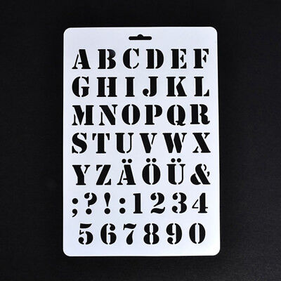 Lettering Stencils, Letter and Number Stencil, Painting Paper Craft Alphabe A3Q1