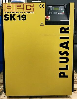 HPC / Kaeser SK19 Rotary Screw Compressor, Low Hours! Perfect Order! 60Cfm!