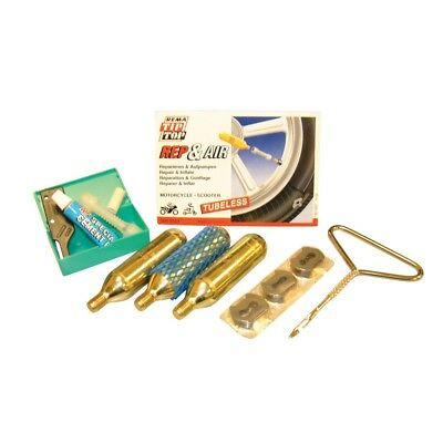 Rema Bike It Rep-And-Air Tubeless Motorcycle Puncture Repair Kit REM001 - T