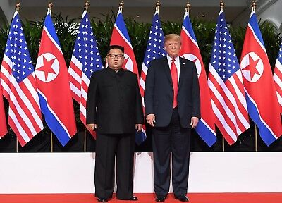 "Donald Trump With Kim Jong Un Glossy A4 Photo 11.75"" X 8.25"" Inches Size A4 #2"