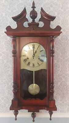 Vintage Traditional Style Wood Cased 31 day Wall Clock by C. Wood & Son