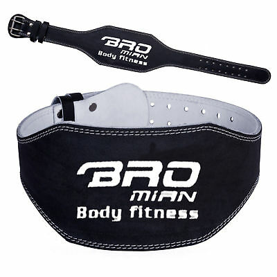 """Weight Lifting leather Bodybuilding Back Support Training Weight lifting Belt 6"""""""