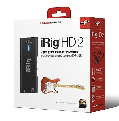 IK Multimedia iRig 2 HD Guitar Interface to Record on iPhone, iOS, Mac, PC