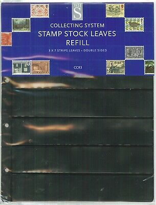 W H Smith - Stamp Stock Leaves (CCR3) -  3x7Strips Double Sided - Post Free
