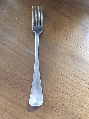RARE FIND ANTIQUE SOLID SILVER HANOVARIAN  4 PRONG SMALL FORK DUTCH  18 Century